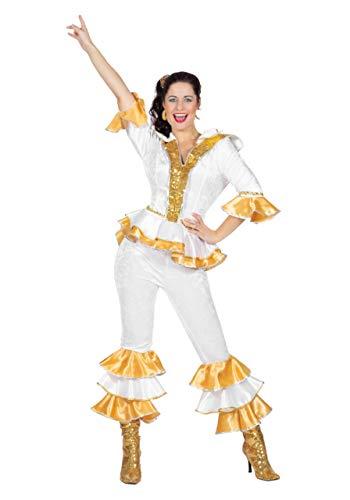 Wilbers & Wilbers 70er Jahre Kostüm Disco Retro Damen Eurovision Super Trooper