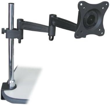 Monoprice 3-Way Adjustable Tilting Monitor Desk Mount Bracket (106421), Black