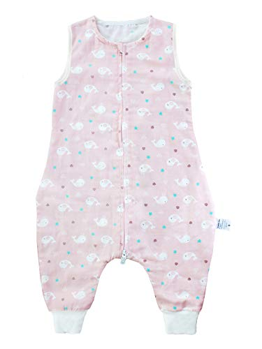 SINCERE Saco de dormir para bebé con pies de muselina original algodón saco de dormir mantas sin mangas 6 meses a 4 años