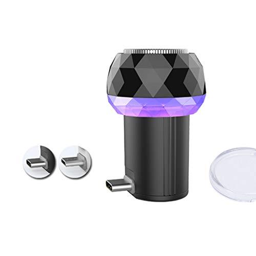 Shefii Mini rasoir électrique portable pour téléphone portable, désinfection UV, appareil de rasage sans danger pour An-droid USB Type-C T Noir