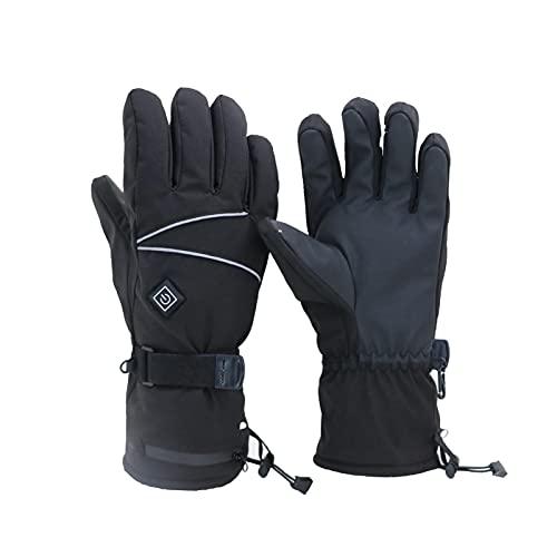 Guantes térmicos para hombres y mujeres, 4000 mAh, guantes eléctricos con batería recargable, guantes térmicos para calentar las manos para esquiar en invierno, patinaje sobre la nieve, acampar, sende