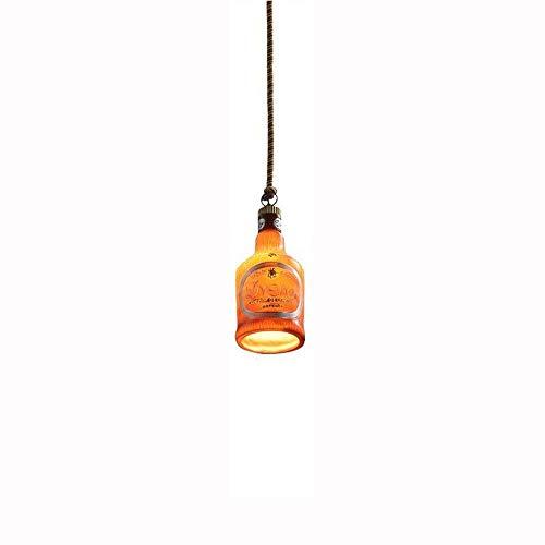 Nuokix Chandelier Lighting Ceiling Light Retro Wine Bottle Pendant Ceiling Lights Creative Hanging Lights Multi-Color Single-Head Lights Decoration Restaurant Bar Cafe Lighting (Color: A) Light Dining