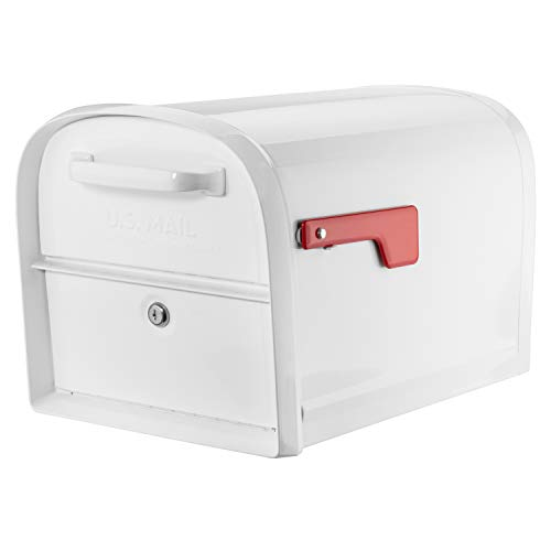 Architectural Mailboxes 6300W-10 Oasis 360 Mailbox, White