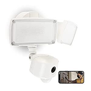 UME Floodlight Camera, Security Camera Outdoor with Motion Sensor, Two-Way Audio, 1080P HD, 3500LM   Wired Flood Light with Cam Direct to WiFi, Night Vision, Waterproof (White)