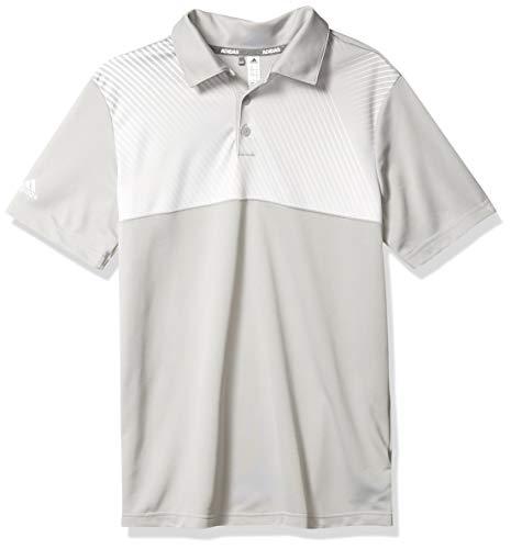 adidas Poloshirt für Jungen mit Farbverlauf, gestreift, Jungen, Polo, Gradient Stripe Polo Shirt, Grau Zwei, Small