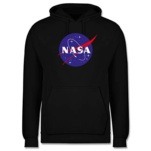 Shirtracer Statement - NASA Meatball Logo - XL - Schwarz - Kapuzenpulli NASA - JH001 - Herren Hoodie und Kapuzenpullover für Männer