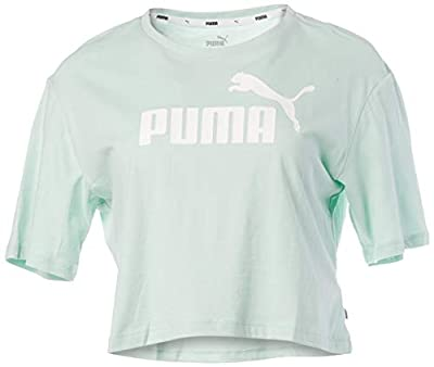 PUMA Women's Short Sleeve, Mist Green, M