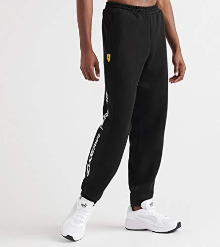 PUMA Pantalón de chándal Scuderia Ferrari para Hombre, Color Negro, XXL