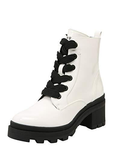 bugatti Damen 431774315700 Kurzschaft Stiefel Stiefeletten, Weiß (Offwhite 2100), 39 EU