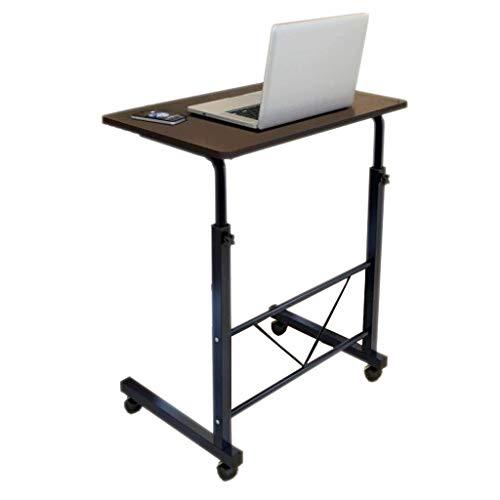 Zwarte notenhouten nachtkastje luie mensen kunnen tillen en verplaatsen mobiele thuisbank eenvoudige leerzorg 60cm*40cm