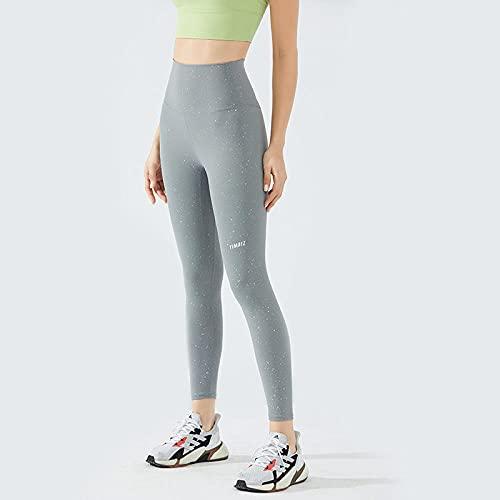 Leggings Mujer Push Up,Pantalones de chándal de alta elasticidad, pantalones de yoga con levantamiento de cadera, pantalones de fitness con estampado de letras sin costuras, pantalones brillantes de