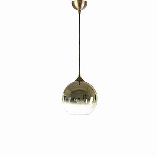 YANGHAO-Lámpara de pared lámpara de iluminación- Cadena ultra larga 17 0CM Luz colgante de techo ajustable E27 * 1 Lámpara colgante de metal de vidrio creativo EUROPEO MODERNA MODERNA PERSONAL DE PRIG