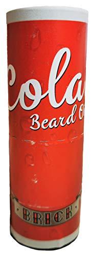 BRICK Bartöl COLA (15ml) | mit Arganöl & Rizinusöl | veganes Bartöl | macht Bärte geschmeidig & glänzend | wirkt entzündungshemmend | vom Profi-Barbier entwickelt | Bartöl in Cola-Dosen-Optik