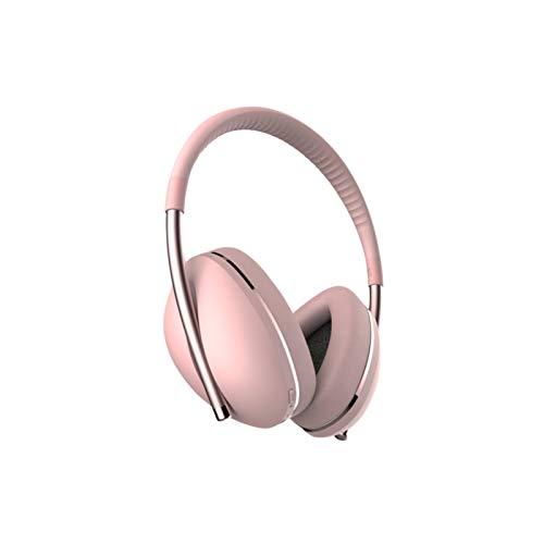 KJCHEN Casque sans Fil Bluetooth Casque ANC Réduction du Bruit Casque Casque de Technologie Noir (Color : Pink)