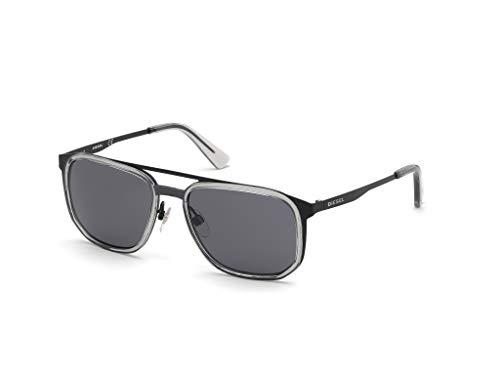Diesel Herren Dl0294 Sonnenbrille, Schwarz, 55