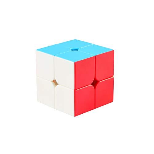 Cooja Cubo de Velocidad 2x2 Speed Cube, Cubo Magico 2x2x2 Smooth Magic Cube Puzzle Durable Regalo de Juguetes para Niños Niñas