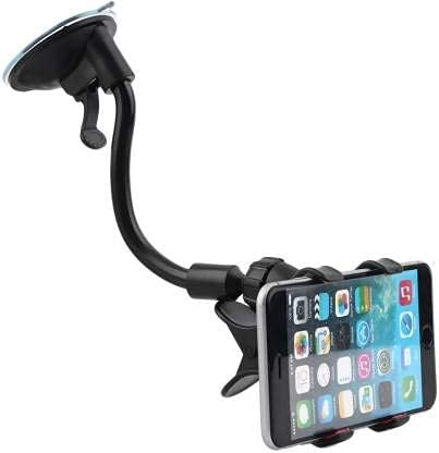 HSE Online 360 Degree | Flexible Mount Stand | Windshield/Dashboard Cell Phone Holder with Strong Suction Cup – Mobile Holder(Black)