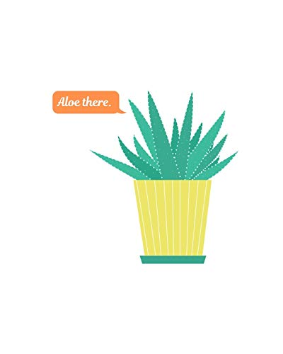 Aloe there.: Blank Book Journal Art Notebook for Girls and Boys - Aloe Vera Plant Succulent