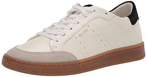 Sam Edelman Women's Josi Sneaker, White/Black, 8