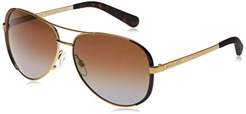 Michael Kors Chelsea 1014T5 59 Occhiali da Sole, Marrone (Gold/Dark Chocolate Brown/Browngradientpolarized), Donna