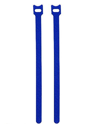 Miya 50 cintas de velcro azules (2,3 cm x 20 cm), bridas...