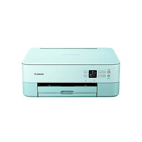 Canon PIXMA TS5353 Drucker Farbtintenstrahl Multifunktionsgerät DIN A4 (Scanner, Kopierer, OLED, 4.800 x 1.200 dpi, USB, WLAN, Duplexdruck, 2 Papierzuführungen), mint
