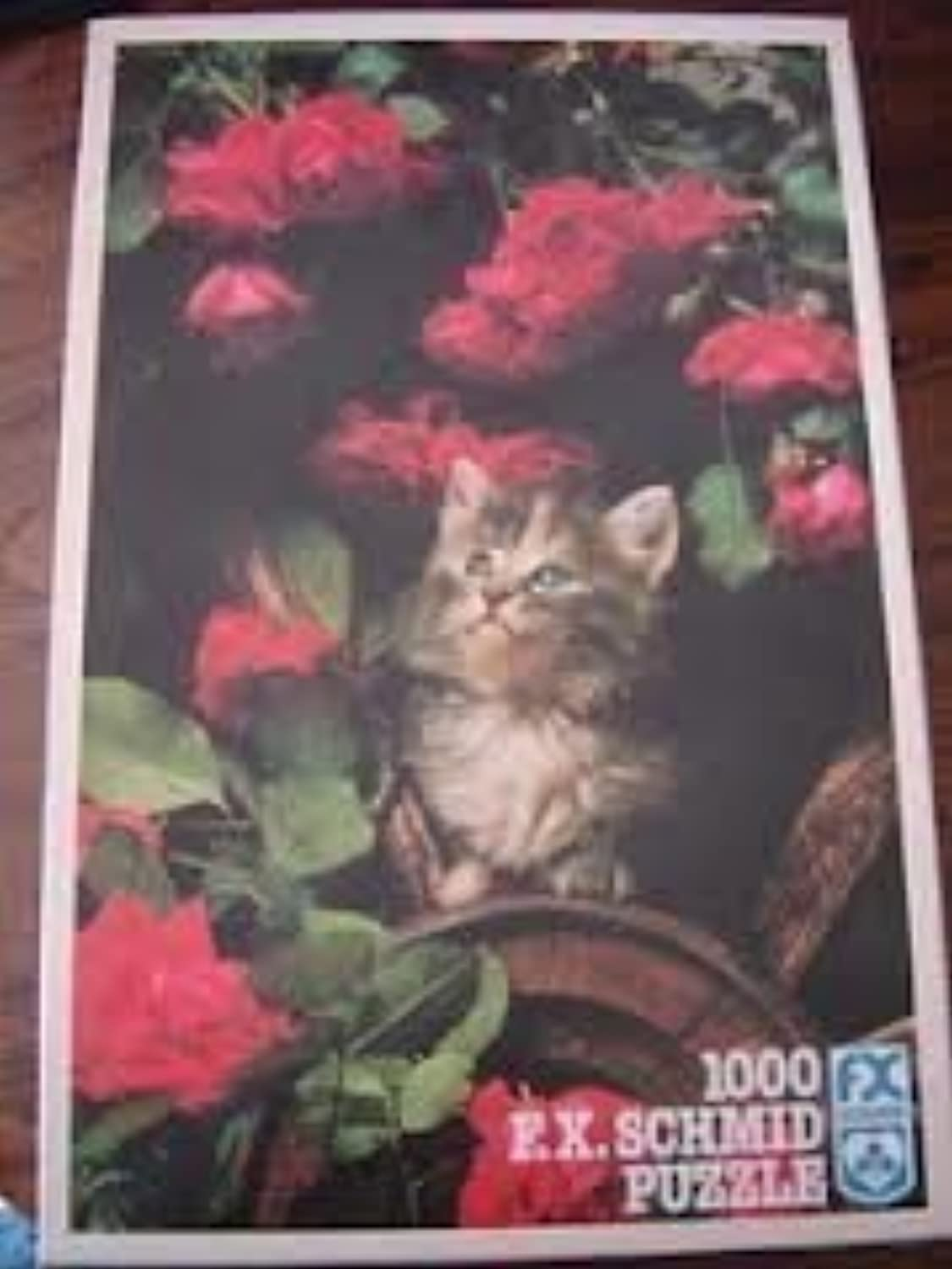 FX Schmid Kitten with pinks Puzzle, 1000pc by FX Schmid