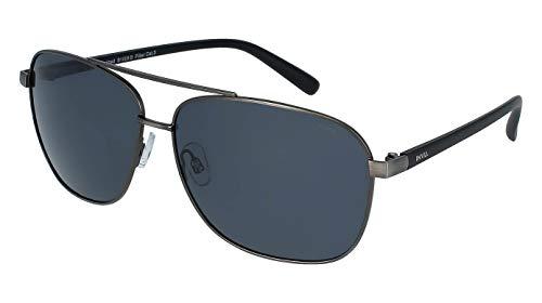 INVU Polarisierte Sonnenbrille T 2401C schwarz grün verspiegelt grün 100% UV polarisierte Sonnenbrille