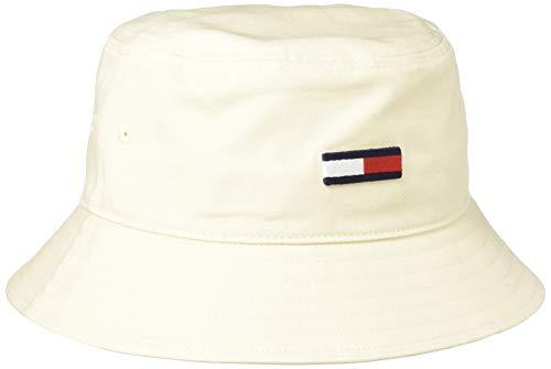 Tommy Jeans TJW Flag Bucket Hat Gorro/Sombrero, Caña de azúcar, Talla única para Mujer