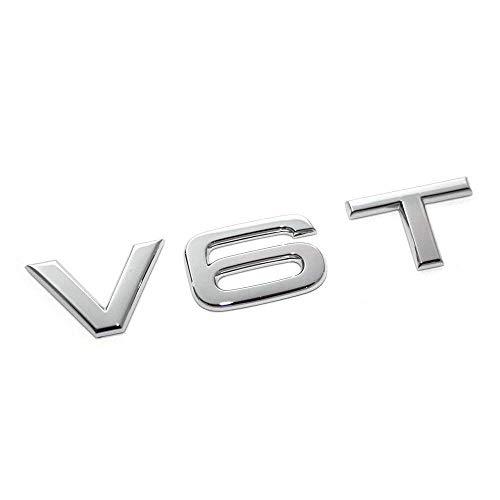 Original Audi V6T Schriftzug Exterieur Kotflügel Emblem Logo chrom
