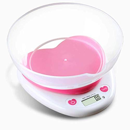 Digitale Keukenweegschaal Roze Hart met Lade Hoge Precisie Sensor Bakschaal 0.1 tot 3KG Keuken, Voedsel, Kruiden, Etc. Exquisite Life Start Hier