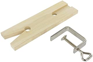Fretsaw board with clamp