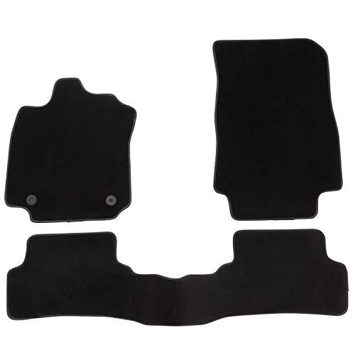 DBS Tapis de Voiture - sur Mesure pour Clio 4 (2012-2019) - 3 pièces - Tapis de Sol antidérapant pour Automobile - Moquette Premium