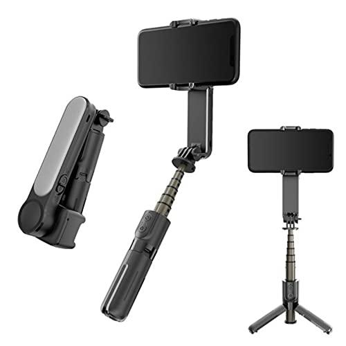 Palo selfie inalámbrico Bluetooth con trípode de luz LED varilla telescópica para vlogging YouTube Vlog TikTok Instagram Live Video KitHandheld Gimbal estabilizador para Android IOS