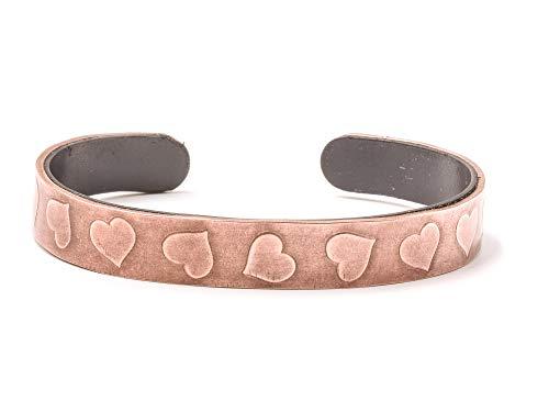 Origin Damen-Armband Kupfer Magnetischer Armreif mit Herzen, einzigartiges Design