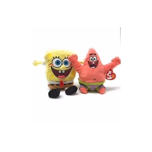 a8edf0ae6f3 Amazon.com  Ty Beanie Babies Spongebob Squarepants Set of 2 ...