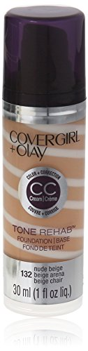 COVERGIRL and Olay Tonerehab 2-In-1 Foundation, Nude Beige 132, 1 Fluid Ounce (packaging may vary)