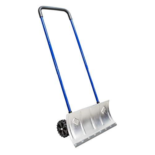 Heavy Duty 24'' Two-Wheel Aluminum Blade Durable Edge Snow Pusher Shovel