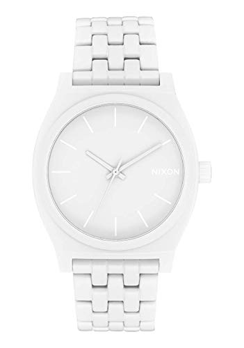 NIXON Time Teller A045 - All White Stainless Steel Analog Watch
