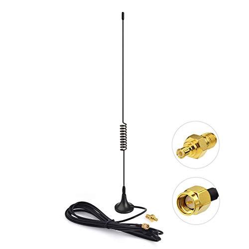 Bingfu Doble Banda 978MHz 1090MHz 5dBi Base Magnética Antena Macho SMA Adaptador MCX Macho a SMA Hembra para ADS-B Aviación Receptor RTL SDR Software Definida Radio Dongle USB Receptor Sintonizador