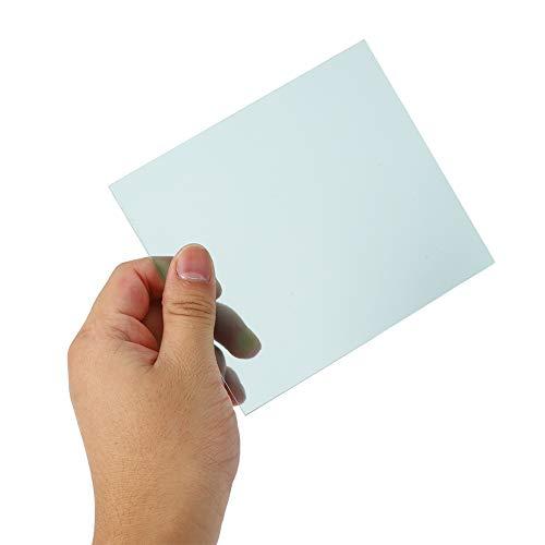 Casco de soldadura automático transparente placa protectora lente de repuesto, 1 mm/0.04in 138 x 122 mm lente casco filtro con policarbonato