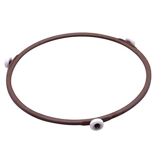 vhbw Anillo giratorio, anillo de accionamiento 19 cm universal para microondas compatible con Bosch, Siemens, AEG, Severin etc - marrón/blanco