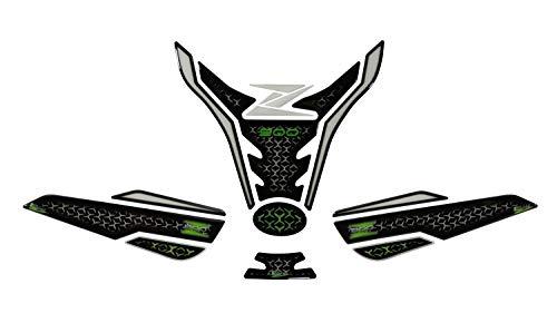 BIKE-label 850028-VA - Juego de protectores de depósito para Kawasaki Z900, color verde y negro
