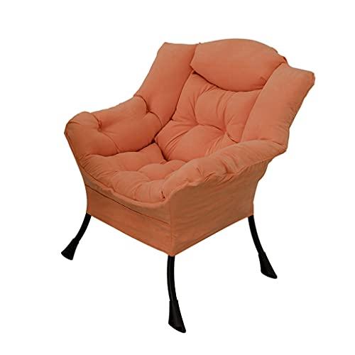 Sofá Perezoso, Silla de Ordenador, sillón pequeño de Ocio de Tela para Sala de Estar, sofá Individual de Dormitorio, sillón Perezoso de balcón