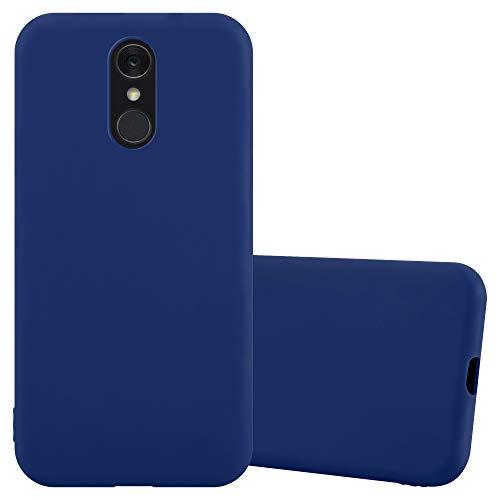 Cadorabo Hülle für LG Q7 in Candy DUNKEL BLAU - Handyhülle aus flexiblem TPU Silikon - Silikonhülle Schutzhülle Ultra Slim Soft Back Cover Hülle Bumper
