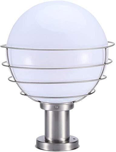 Pillar Light,Outdoor Column Light Modern Simple Transparent Lampshade Round Ball Column Headlight Stainless Steel Garden Light Landscape Light Protection Level - IP65 E27 Socket Led Lantern