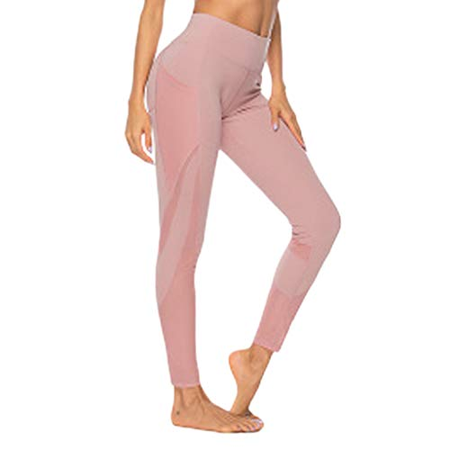 Cinnamou Legging Femme Pantalon de Sport avec Poches Yoga Fitness Gym Pilates Taille Haute Gaine Large Yoga Fitness Gym