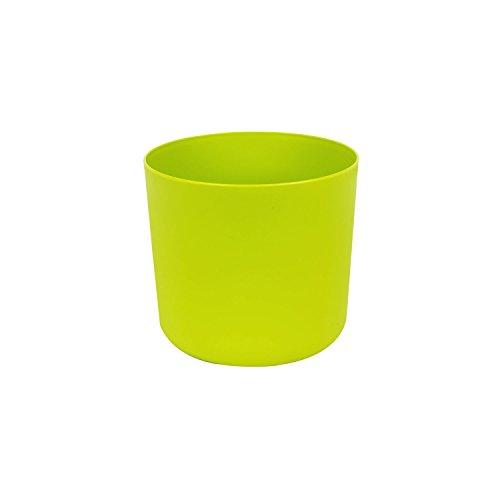 Classique cache-pot en plastique Aruba 13 cm en vert clair couleur
