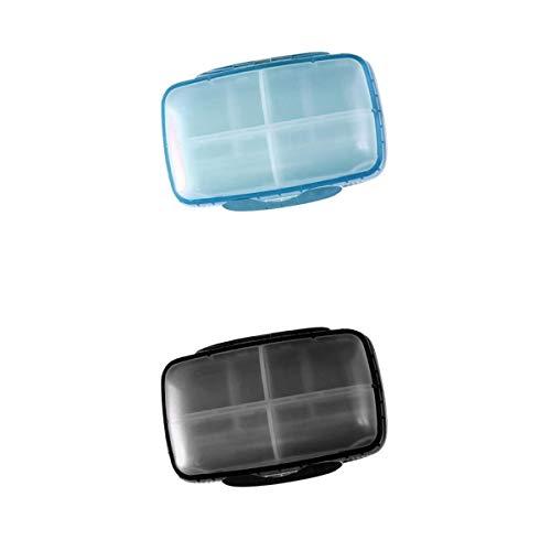 #N/A/a Lotes 2 8 Ranuras Tableta Pastillero Organizador de Almacenamiento de Medicamentos de Viaje Impermeable