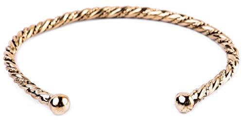 WINDALF Vintage Armreif TORIN Ø 6.4 cm Vikings Wikinger Armschmuck Handgeschmiedet Edle Bronze